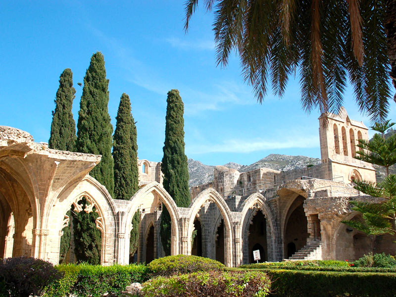 bellapais abbey cyprus famagusta bus trip excursion luxcy services