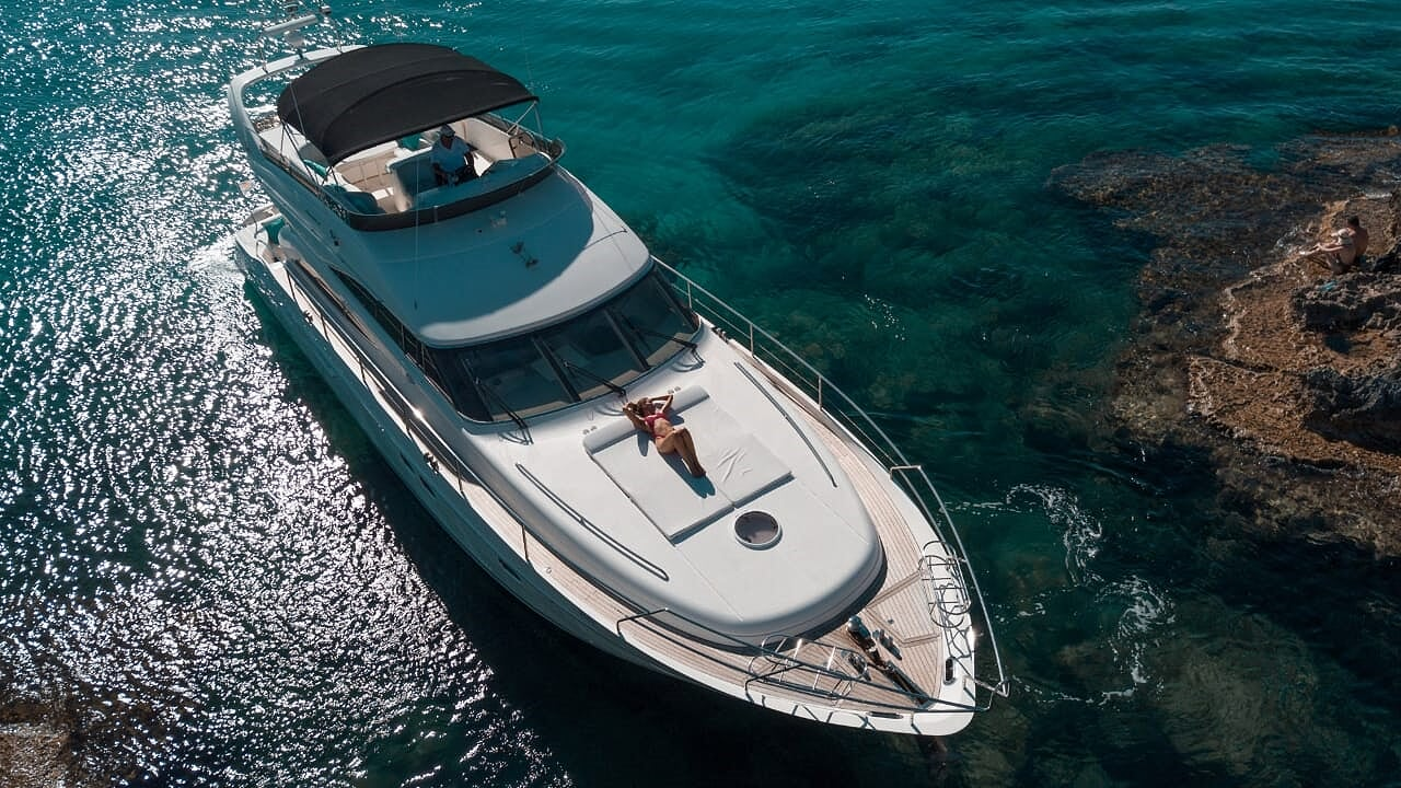 princess 61 luxury yacht vip ayia napa protaras cyprus luxcy services