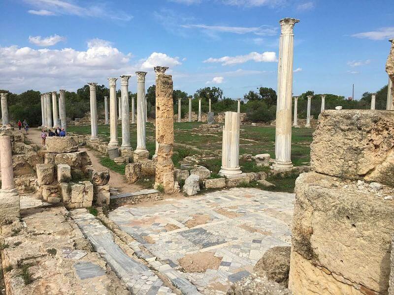 salamis cyprus bus trip excursion luxcy services