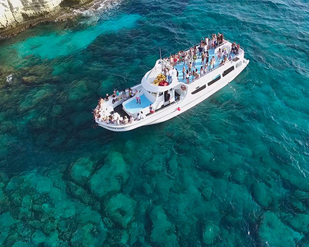 boat trip ayia napa santa napa cyprus luxcy services