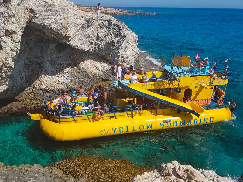 yellow submarine ayia napa cyprus boat trip luxcy services